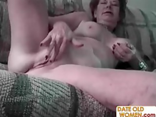 unsightly old woman and juvenile horny guy