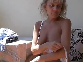 nasty mature granny masturbating with toy