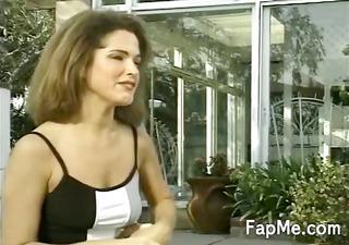 lewd girl jerking off a hard dick