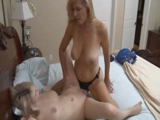 sexy blonde cougar mom uses a ding-dong to bang