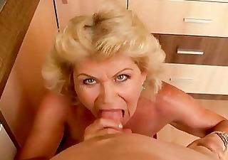 granny getting drilled in pov