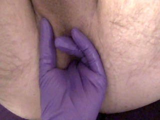 wife prepping me for anal with her strapon