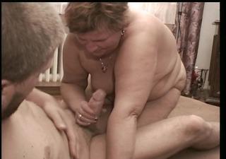 flaccid old lady receives some hard wiennie