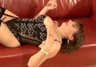 aged stocking femdom ramrod engulf
