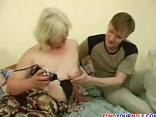 drunk milf enticed by juvenile dude