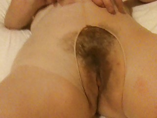 unshaved mum in hose