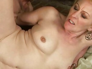granny enjoys nasty sex with a chap