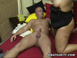 overweight dilettante wife sucks and bonks at