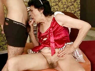 very old granny gets drilled by a lad