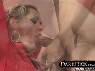 white cougar wife takes on large black cock