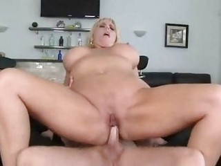 fat golden-haired momma with massive boobs
