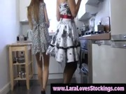 stocking wearing chic mature