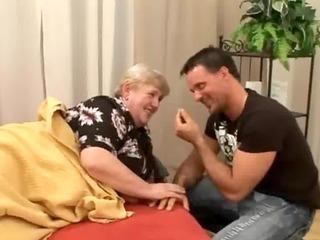 penetrating a bulky old bushy granny