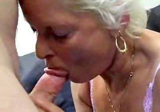 granny sucks copulates and swallows !