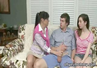 stepmom teachers her stepdaughter sex