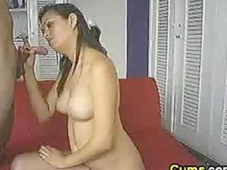 swallowing his hawt cum