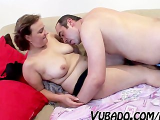 aged couple have a fun sex at home !!