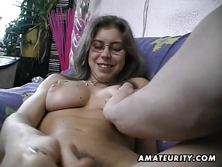 curly dilettante wife toys and rides a schlong