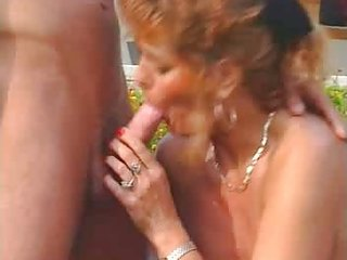 group sex - 3 guys 3 beauties (outdoor older orgy)