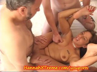 milf and the cum swallowing gang team fuck