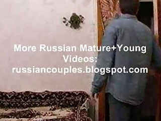 slim russian aged lady fucking with a lad