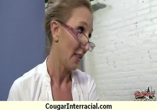 cougar babe rides a darksome monster penis 2