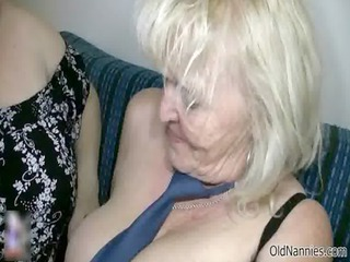 smutty golden-haired granny loves fucking a