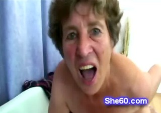 old cock hungry whore sucks and copulates a lucky