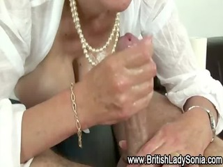 mature whore lady sonia taunts cock
