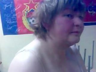 drunk russian woman shows striptease