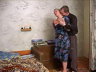 older breasty lady seduces neighbour guy with