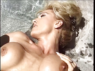 tall blonde wife with outstanding tits receives
