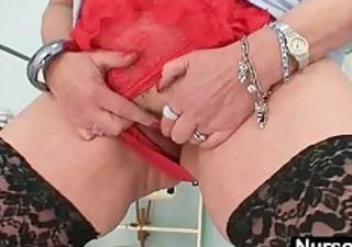 large marangos redhead lady dildoying hirsute